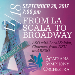 "ASO presents ""From LaScala to Broadway"""